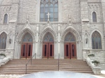 The front of the Westport St. Gabreil Catholic Church